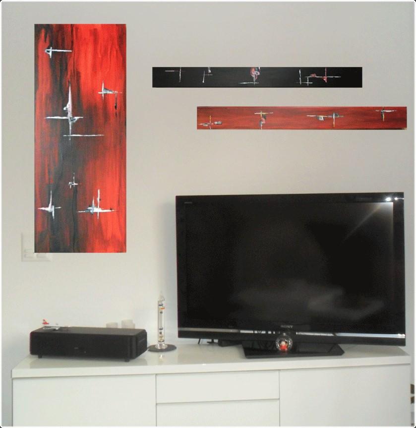 Peinture-triptique TV